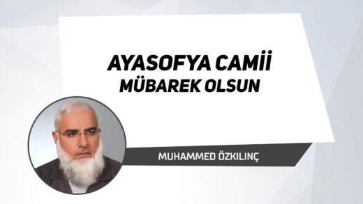 Ayasofya Camii Mübarek Olsun
